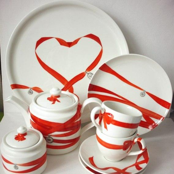 Поздравления подарок посуда